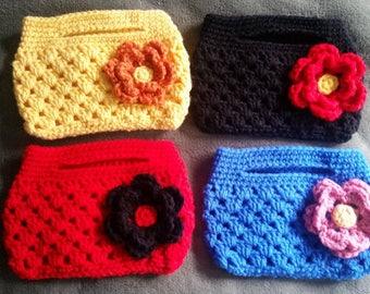 Flower purse - little purse - clutch purse
