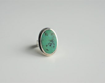 Vintage Turquoise Ring | Sterling Silver | Sz 6.5