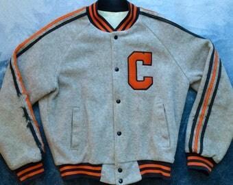 Vintage 80s Clemson Tigers Letterman Sports Jacket