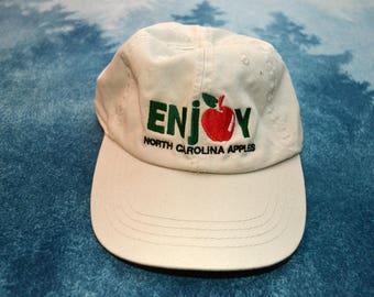 Vintage 90s ENJOY North Carolina Apples Baseball Hat