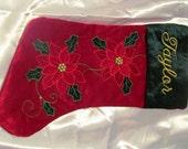 Embroidered Christmas Stocking, Christmas Stocking, Personalized Christmas Stocking, Christmas Stocking