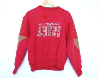 Retro San Francisco 49ers Sweatshirt Sports Football Red Starter