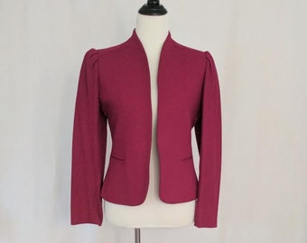 Vintage Cranberry Wool Blazer