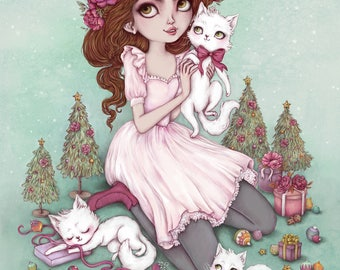 Merry Kitschmas- A3 Limited Edition Fine Art Print - Inspired by Christmas and Kitsch