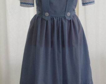 Dorothy Wizard of Oz Costume Women's Sizes 6-12