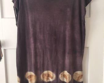 Merino wool plant dyed tunic dress MED