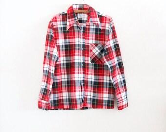nos / sears cotton flannel - m