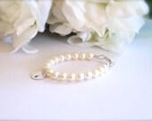 Real Pearls Sterling Silver Initial Baby Bracelet Freshwater Pearls BABY GIRL New Baby, Keepsake, 1st Pearls, Birthday Gift