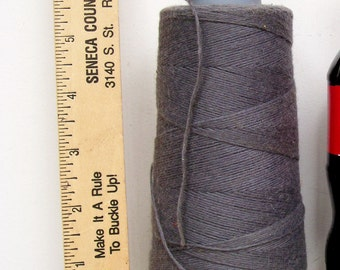 Coats Cotton CONE THREAD Heavy Duty Tex 250 Gray USA  Sewing Jewelry Tassels Leather Craft