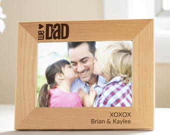 Custom Engraved Father's Day Picture Frame: Personalized Dad Picture Frame, Personalized Gift for Dad, Unique Father's Day Gift, SHIPS FAST