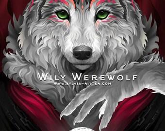 Wily Werewolf - Signed Giclée Print