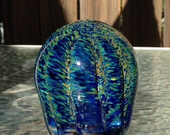 Tide Pool of Life - handmade art glass paperweight