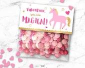 Valentine's Day Unicorn Gift Bag Topper Printable - Kids