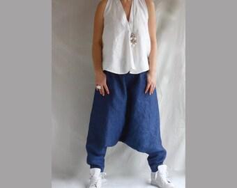 Baggy linen pants – Etsy