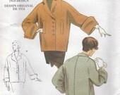 50s Retro Style Coat Pattern Vogue 1023 Sizes 16 - 26 Uncut