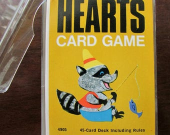 1963 Hearts Card Game by Whitman #4905, Western Publishing, Wisconsin in Plastic Case