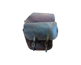 Vintage Motorcycle Saddlebags Western Cowboy Brown Leather Saddle Bags