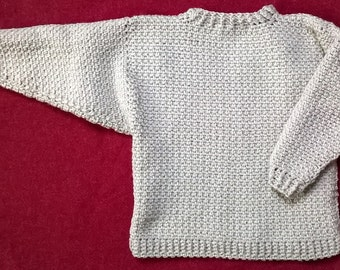 Child's Crochet Sweater for a Boy or Girl Age 2-3