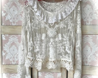 Baroque Vogue Embroidered Lace On Lace Top Buccaneer Beauty