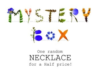 Mystery box Random Resin necklace | Grab bag gift | Mystery Parcel Surprise box Lucky dip | Grabbag Handmade resin jewelry mystery listing