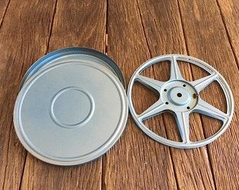 Vintage Film Reel - Blue Metal Film Reel And Canister - COMPCO Corp 8mm Film Reel - Old Film Reel