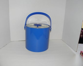 Georges Briard Blue Plastic Vintage Ice Bucket