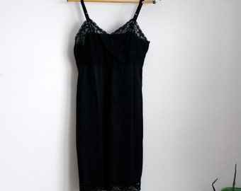 Vintage Black lace Slip, Gaymode brand