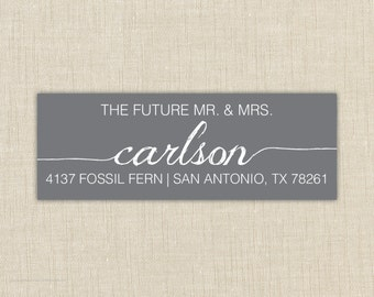 Return Address Labels. Return address label sticker. Custom address label. the future mr. and mrs.