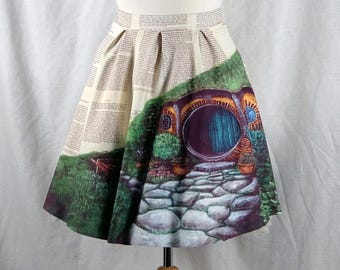 Lord of the Rings Skirt featuring The Hobbit Hole, Bagend, The Shire, Hobbiton, Baggins House