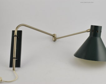 Swing wall light artimeta, dark green swing wall lamp from dutch design firm artimeta