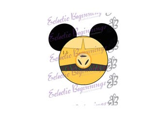 Disney Digital File, DIY Print Iron On-Disney Star Wars C3P0 Mickey Ears JPG File