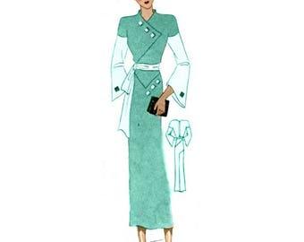 Plus Size (or any size) Vintage 1934 Dress Sewing Pattern - PDF - Pattern No 1523 Ora 1930s 30s Retro