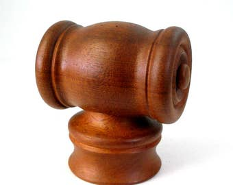 1972 Nissen Teak Knight Mill Danmark Peugeot Grinder Salt Pepper 0283 Danish Modern Design Chess Piece Denmark Rare
