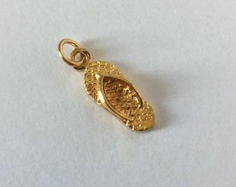 Gold Vermeil Flip-Flop Sandal Charm
