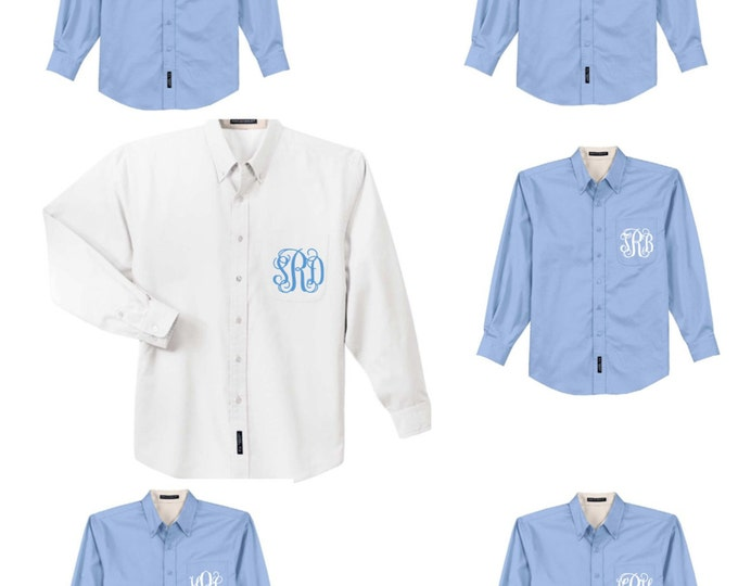 Monogram Bridesmaid Shirt, Bridesmaid Button Down Shirt, Monogrammed Bridesmaid Gift, Getting Ready Shirt, Wedding Day Shirts