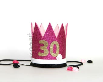 Kate Spade inspired Birthday Crown // 30th Birthday Crown // by Born TuTu Rock