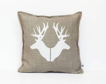 Deer pillows, Deer heads throw pillows, Deer pillow covers, Deer heads cushions, Decorative pillows, Accent pillows, Custom pillows 0362