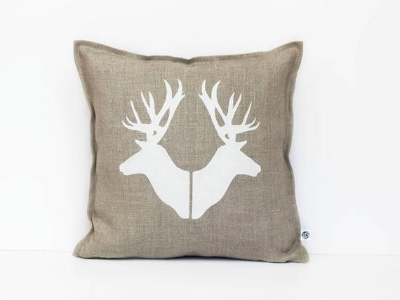Deer pillows, Deer heads throw pillows, Deer pillow covers, Deer heads cushions, Decorative pillows, Accent pillows, Custom pillows 0362