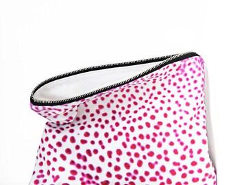 Orchid XL Portfolio clutch bag - waterproof large make up bag, large beach bag, beach accessories, summer style, floral print clutch bag