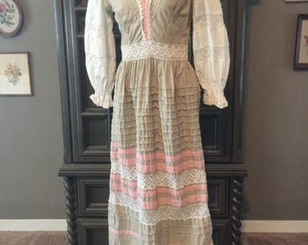 60s Georgia Charuhas Mexican Summer Dress