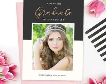 Senior Graduation Template, Senior Graduation Announcement Templates, Senior Templates, Photography Templates, Graduation Invitation  GD160