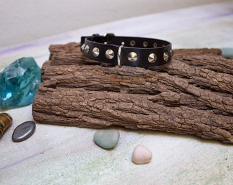 studs pet collar, studded dog collar hand made, genuine leather pet collars