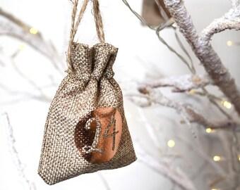 Christmas Advent Calendar Tree Hanging Sacks
