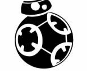 BB-8 Car Decal  large Decals for the vehicle BB-8 stickers