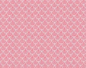 """CLEARANCE SALE 30% OFF Riley Blake Designs """"Merry Little Christmas"""" by Zoe Pearn - Merry Scallop Pink - 1/2 yard"""