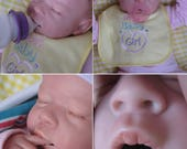 OPEN MOUTH reborn girl, Hold full pacifier, Faux formula bottle, ready to ship!