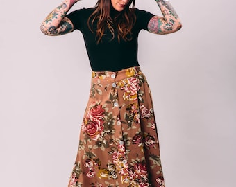 vintage floral maxi skirt | small petite | the sag harbor skirt