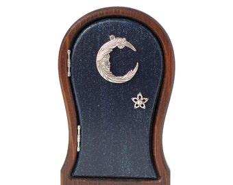 Starry Blue Moon Fariy Door for Home and Garden