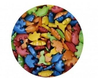 Rainbow Dinosaurs Confetti Sprinkles for cake, cupcake, & cookie decorating