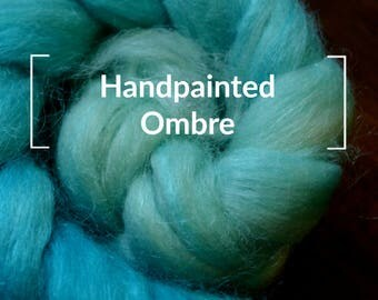 Handpainted Ombre - Kettle Dyed Hand painted Spinning Fiber Tutorial